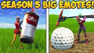 How to do big emotes ! *Fortnite* Season 5 Glitch *New*