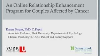 An Online Relationship Enhancement Program for Couples Affected by Cancer - May 23, 2014