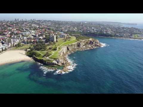Coogee Beach By Drone - Sydney Australia