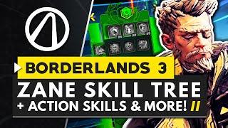BORDERLANDS 3 | All ZANE Action Skills, Perks & Abilities - Full Skill Tree Breakdown