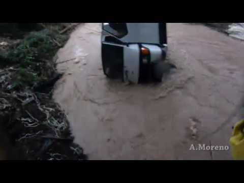 Inundaciones en Málaga, rescate en Coin