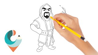 How To Draw Wizard COC Character