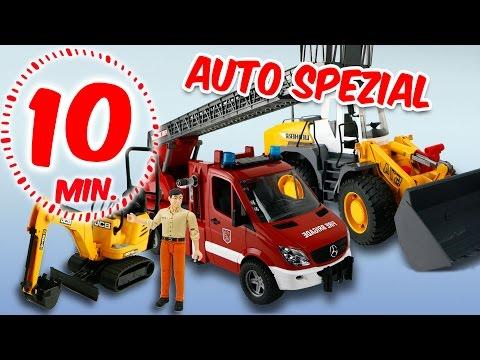 ⭕ BRUDER Bagger Und Feuerwehr SPECIAL - Spielzeug Ausgepackt & Angespielt - Pandido TV