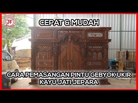 cara-pemasangan-pintu-gebyok-ukir-jepara-kayu-jati