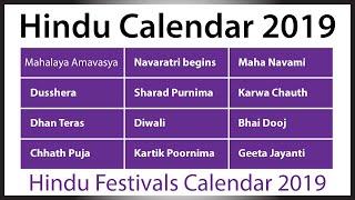 Hindu Calendar 2019   Gazetted Holidays 2019   National Holiday in India