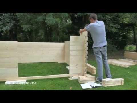 Garden Chalet-Jardin sheds build in wood - YouTube
