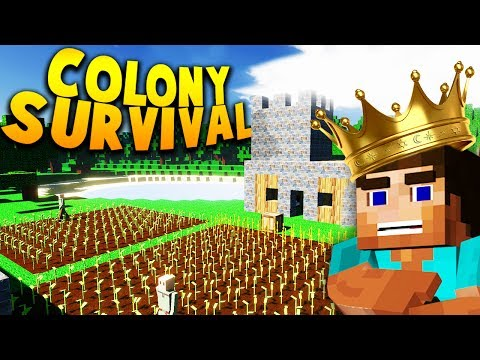 IS THIS THE NEXT MINECRAFT?! STARTING OUR NEW KINGDOM IN COLONY SURVIVAL! | Colony Survival Gameplay