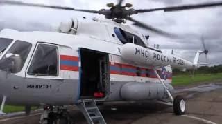 Облет Уссурийского городского округа на вертолете МЧС (первый день тайфуна \Лайонрок\)