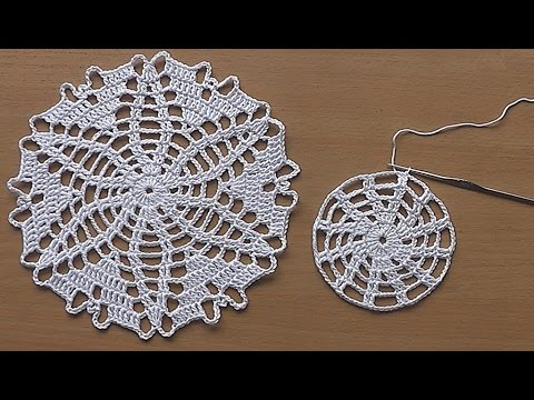 CROCHET doily Tutorial Pattern Crochet Motif How to crochet doily ...