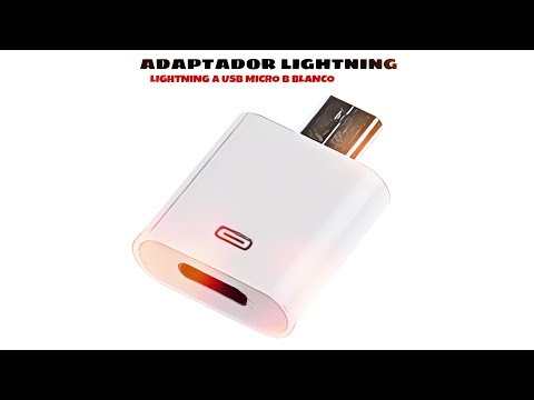 Video de Adaptador Lightning a USB Micro B  Blanco