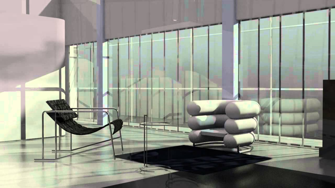 animation of the e 1027 house by eileen gray youtube. Black Bedroom Furniture Sets. Home Design Ideas