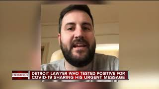 Detroit lawyer diagnosed with COVID-19 shares his experience & symptoms