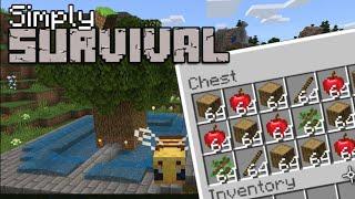 Minecraft Bedrock - TREE FARM Tutorial - PS4 , MCPE , Xbox , Windows & Switch (Simply Survival #8)