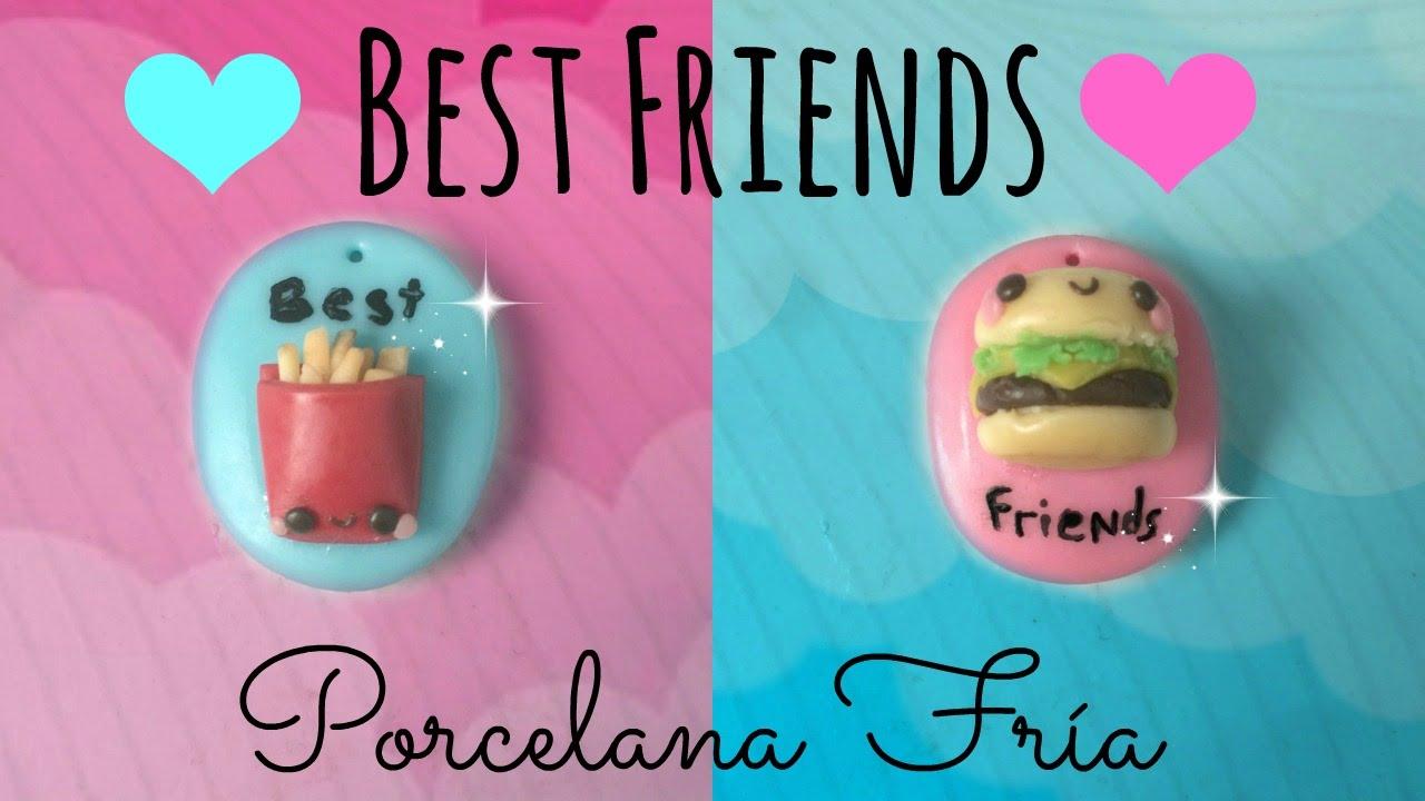 Diy dijes para mejores amigos porcelana fr a youtube for Cena fria para amigos