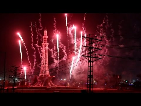 Fireworks #1 Pakistan Day 23 March at Minar e Pakistan Lahore 2017
