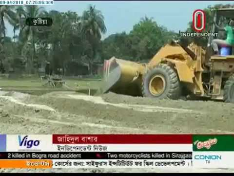 Land grabbers filling up ponds and water bodies in town (09-04-2018)