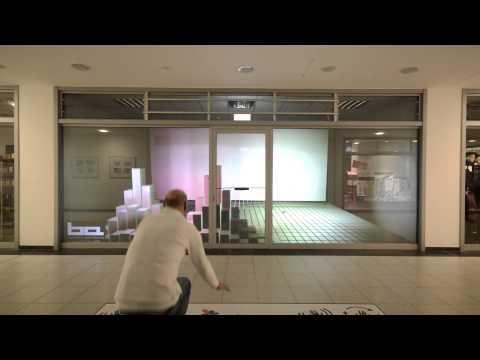interactive shop window Beaming Arts Berlin