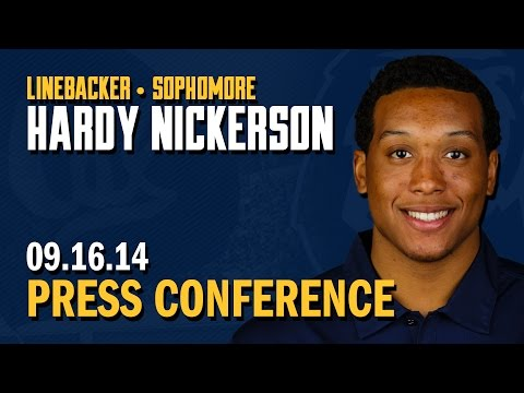 Cal Football: Hardy Nickerson Press Conference (9/16/14)