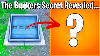 FORTNITE'S BUNKER SECRET FINALLY REVEALED (avertissement spoiler)