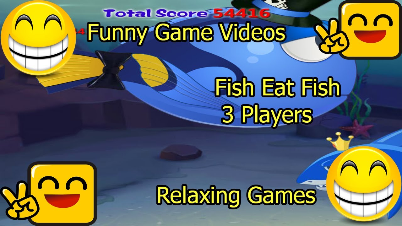 Funny game videos relaxing games fish eat fish 3 for Fish eat fish game