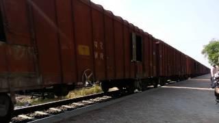 WDG4 hauling BCNA past Patiala Cantt Station