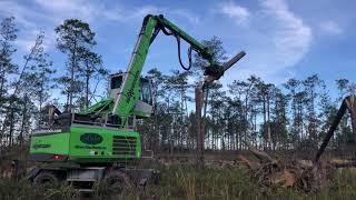 Video still for Sennebogen Cleans Up Hurricane Debris in Florida Panhandle