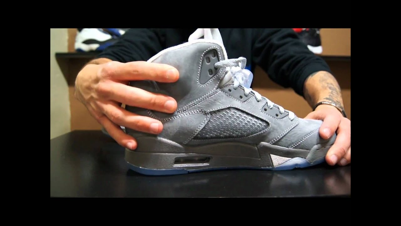 878020965d7153 Air Jordan V (5) Retro  Wolf Grey  - YouTube