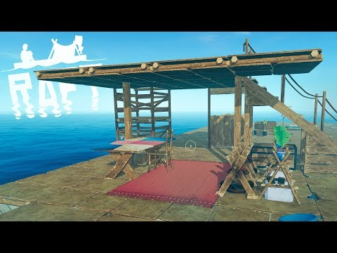 The NEW Raft - SECOND FLOOR & BASE EXPANSION! BUILDING A KITCHEN - Part 2 - Raft Gameplay Update
