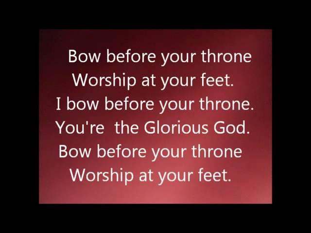 Glorious God I Bow Before Your Throne Lyrics By Elijah Oyelade