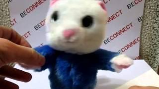 Мягкая игрушка Говорящая-повторяющая кошка (синяя) - видео