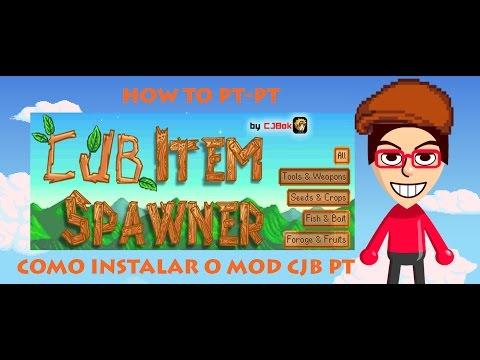 Stardew Valley // CJB Item Spawner // Como instalar // How to install // PT - PT