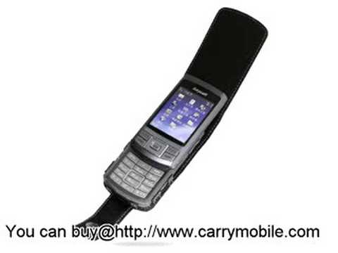 Carrymobile Leather Case for Samsung SGH-G810 - Flip Type (Black)
