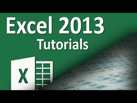 Excel 2013 - Tutorial 14 - Formatting Basics