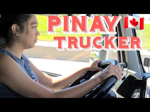 PINAY TRUCKER ON THE ROAD  PINOY TRUCKER IN ALBERTA  🇨🇦
