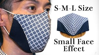 Small Face Effect Design Face Mask Tutorial DIY Printable Pattern Mask Free PDF