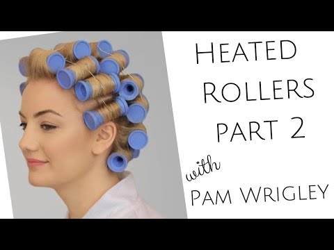 Part 2  Learn how to set the hair in heated rollers - achieve a glossy natural looking curl.