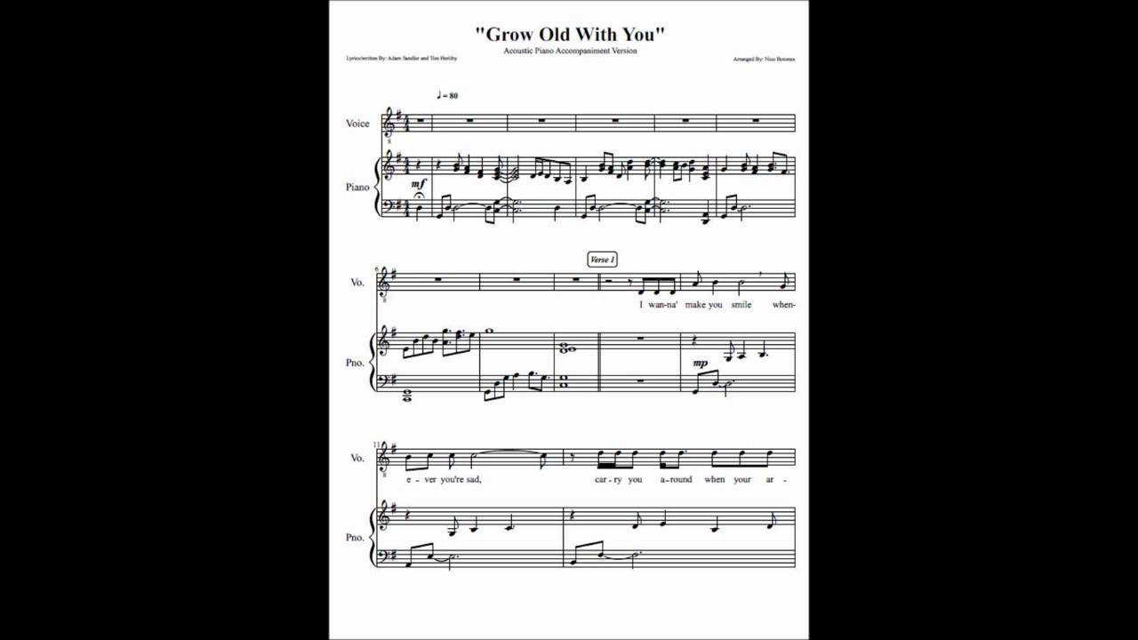Grow Old With You Instrumental 88