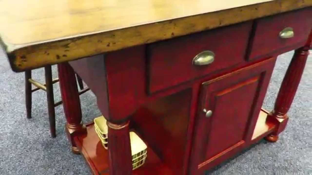 Amish Furniture Kitchen Island Amish French Country Kitchen Island Youtube