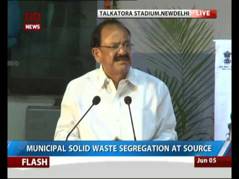 Venkaiya Naidu launches Nationwide campaign for waste management
