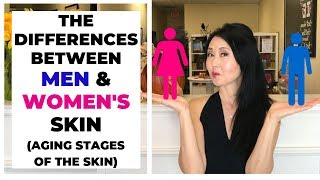 The Differences Between Men and Women's Skin   Aging Stages of the Skin