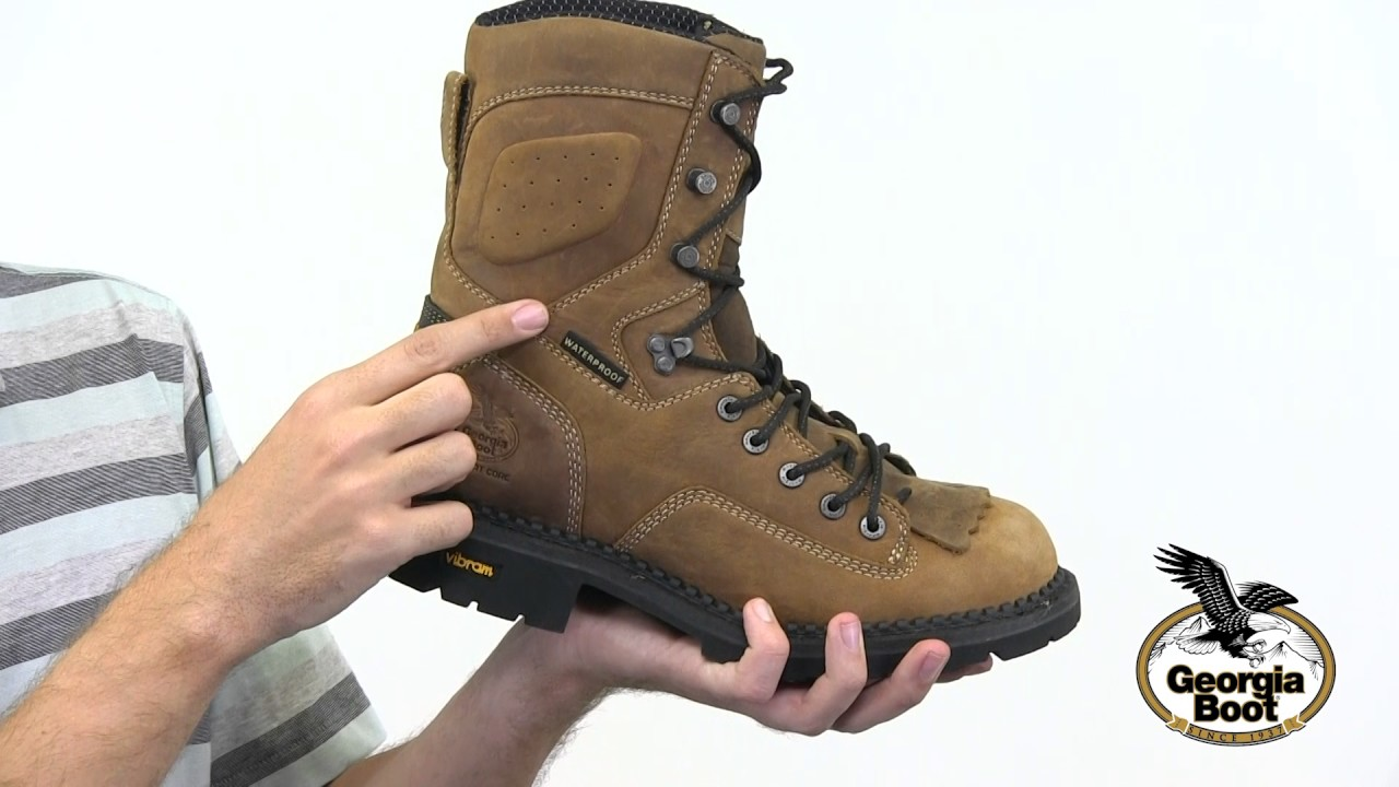 3a90b790fc5 Georgia Boot Comfort Core Waterproof Low Heel Logger Work Boot Style# -  GB00122