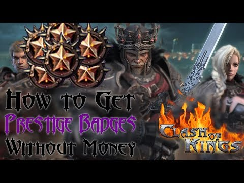 Sources Of Prestige Badges | Non Spender Ways | Clash Of Kings