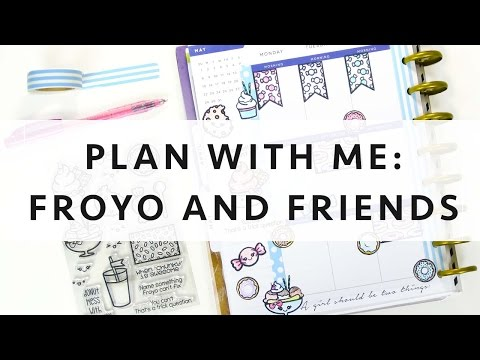 Plan with Me: Froyo and Friends using Avery Labels