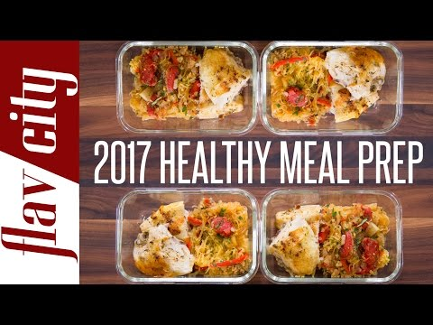 Clean Eating Meal Prep For 2017 - New Year Resolution Meal Prep
