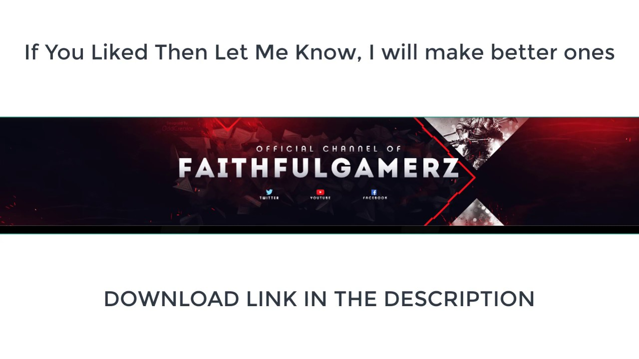 youtube channel art template psd youtube gaming channel art/banner template (photoshop)