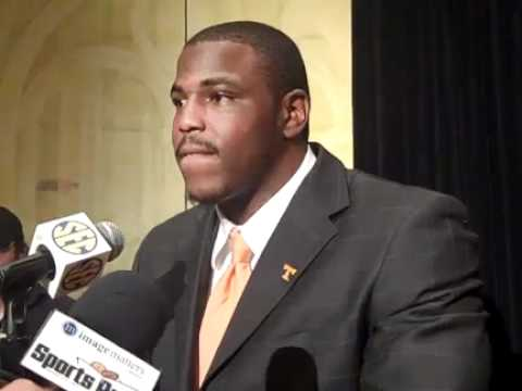 Tennessee defensive tackle Malik Jackson takes questions at SEC Media Days