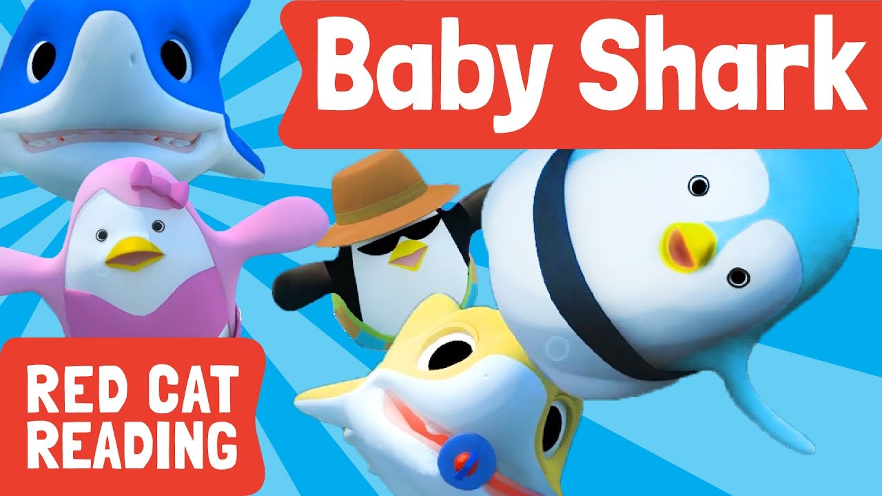 Baby Shark 3D | Animal Songs | Songs for Children | Made by Red Cat Reading