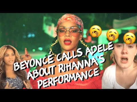 Beyonce and Adele watch Rihanna's Grammy Performance