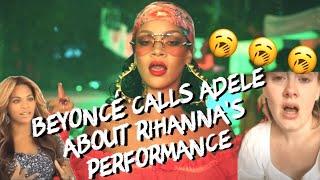 Beyonce & Adele Watch Rihanna's Grammy Performance
