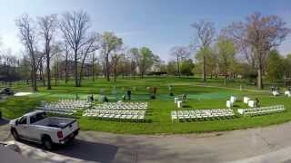 Ball State University's chair set-up time-lapse for Spring Commencement